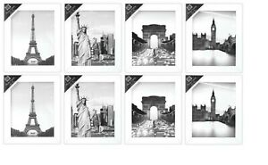 """[Pack Of  8] 8"""" x 10"""" Traditional White Photo Frame - Wall Hanging"""