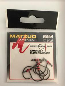 20 (4 packs of 5) Matzuo 97001 Drop Shot Swivel Hooks size 2/0