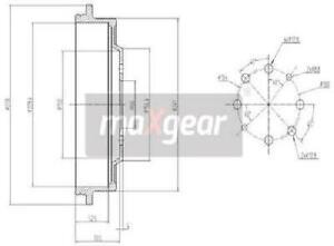 Original MAXGEAR Bremstrommel 19-1361 für Nissan Renault