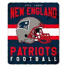 "New Northwest NFL New England Patriots Soft Fleece Throw Blanket 50"" X 60"""