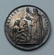 """Médaille de Mariage Argent/silver """"MARIAGE CHRÉTIEN"""""""