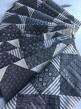 Antique Quilt Block Set If 9~Mourning Prints Cotoon Calico Fabrics