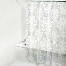 3D Translucence Bath Curtain Floral Printed PEVA Waterproof Shower Curtain Hooks