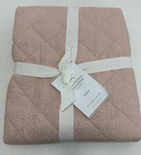 Pottery Barn Belgian Flax Linen Diamond Sham Pink Standard 26x20 NEW Light Marks
