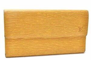Auth Louis Vuitton Epi Porte Tresor International Wallet Yellow M63389 LV D7920