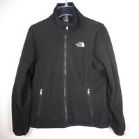 North Face Womens Black M Full Zip Fleece Jacket Winter Outdoors Half Dome Logo