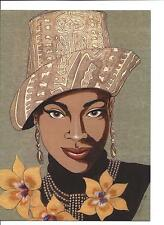 African American Woman KENION Notecards 5 Blank Cards Envelopes Foster 1999