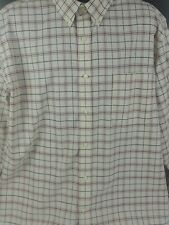 Vintage St. Johns Bay Long Sleeve Button Up Plaid Brow Multi Color Mens Size XL