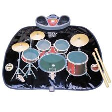 Kids Folding Drum Kit Playmat Christmas Fun Toy Speakers Drumsticks Mp3 Input
