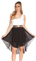 Stilvolles One-Shoulder-Kleid im High-Low-Stil