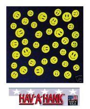 USA MADE Hav-A-Hank SMILE HAPPY SMILEY BANDANA Face Mask Neck SCARF Head WRAP