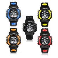 New Mens & Boy's Digital LED Quartz Alarm Date Waterproof Sports Wrist Watch UK