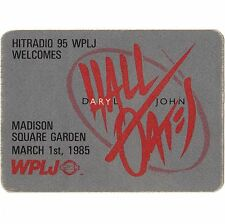 Daryl Hall & John Oates Concert Backstage Pass Msg 3/1/85 Nyc Otto Not A Ticket