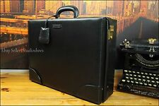 Gucci Authentic Italy Rare Black Pilot Doctor Leather Travel Briefcase Bag