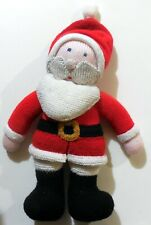 """VINTAGE HAND MADE TOY DOLL WOOL SANTA CLAUS christmas 15"""" 1990s"""