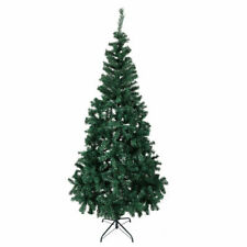 7' Green Artificial Christmas Tree W/Solid Stand Holiday Indoor Outdoor