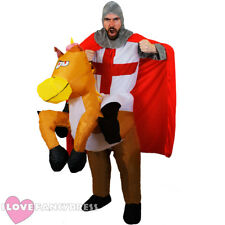 KNIGHT RIDING INFLATABLE HORSE COSTUME MEDIEVAL FANCY DRESS STAG FUNNY NOVELTY
