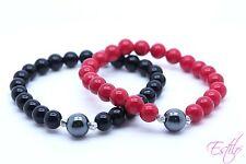 Handmade Semi Precious Stone Bracelet Set for Him and Her Valentine's Day Gift