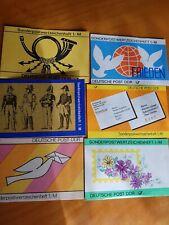 Briefmarkenheftchen DDR 6 verschiedene