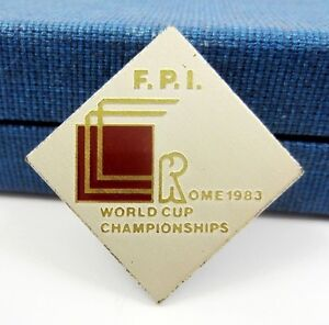 1983 Rome World Cup Boxing Championships Vintage Old Lapel Pin Badge