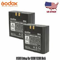 Original OEM Godox 2pcs VB18 Li-ion Battery For V850II V860II Speedlite Flash US