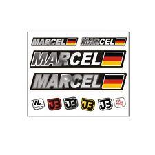 """Marcel"" Auto Fahrrad Motorrad Kart Helm Fahrername Aufkleber Sticker Flagge"