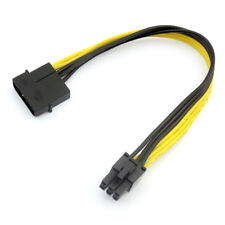 Large 4P to 6P Power Cable single D to 6P Graphics Card Power Adapter Cable