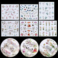 Cute DIY Flower 3D Nail Art Transfer Stickers Sheets Decals Manicure Decor Tips