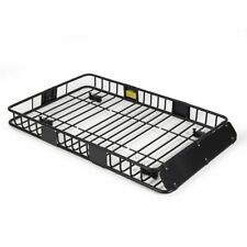 "ROKIOTOEX Universal Roof Rack Cargo Carrier Basket W/ Extension SUV 64"" Black"