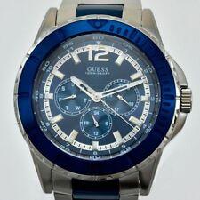 GUESS STEEL MEN'S W0478G2 WATCH - BLUE