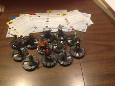 Heroclix 12 figure lot Batman set 032 Big Barda 040 Halo Arkham Asylum w/cards