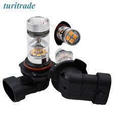 2 PCS 100W H10 9140 9145 9055 LED CREE 3000K Orange Fog Lights Driving Bulbs w#2