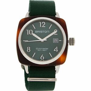 BRISTON Men's CLUBMASTER Classic Icon Wristwatch Green 15240.PYA.T.10.NBG
