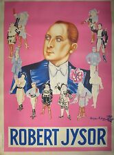 "Vintage Lithograph Poster ""Robert Jysor"" on Linen"