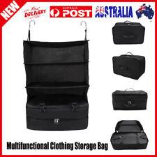 Portable Luggage System Hanging Travel Shelves 3 Layers Storage Bag Organizer ji