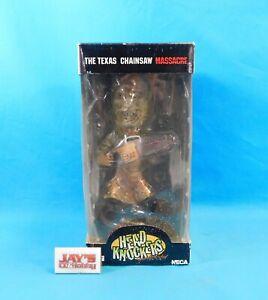 Leatherface Bobble Head Texas Chainsaw Massacre NECA Head Knockers in Box