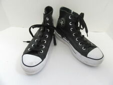 CONVERSE BLACK LEATHER HI TOP SNEAKERS W/ STUDS 7.5