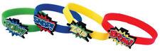 12  Super Hero Bracelets - Pinata Toy Loot/Party Bag Fillers Wedding/Kids