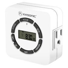 Digital Timer Outlet, 7 Days Heavy Duty, Programmable Light Timer Indoor Use Etl