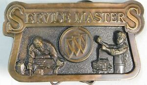 Vintage BUICK Service Master Limited Edition, Numbered Brass Belt Buckle ~ GM