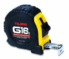 "Tajima G-16BW 16' Standard Scale Tape Measure with 1"" Steel Blade"