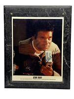 1991 Star Trek William Shatner Captain Kirk Autographed Plaque