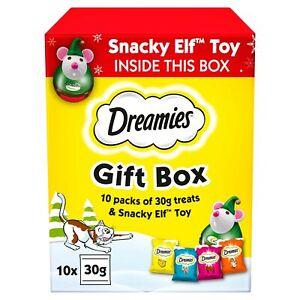 Dreamies Christmas Cat Treats, Xmas Variety Gift Box, 1 Box (300 g) - Feb 2021