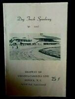 1961 DOG TRACK SPEEDWAY PROGRAM Virginia-Carolina Line Moyock,NC Joe Weatherly