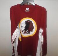 G-III Washington Redskins NFL Long Sleeve Football Jersey Shirt New Mens Sizes