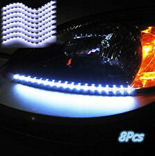 8xCar White Grill Flexible Waterproof Light Strip Interior Atmosphere Lights New