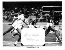 Lennox Miller Autograph Summer Olympic Track Silver Medal Jamaica USC Trojans #1
