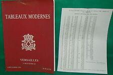 catalogue vente enchères VERSAILLES Tableaux modernes + liste prix de vente (23)