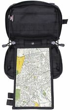 "Rothco Advanced Tactical Admin Map Pouch - Black 10"" MOLLE Military Pouches"