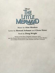 THE LITTLE MERMAID - Play Script for the Disney Broadway Musical; Unbound Copy